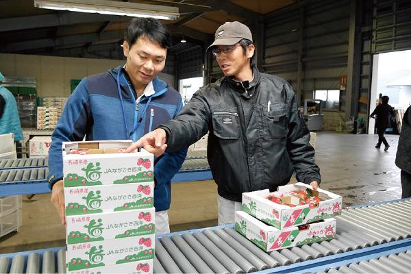 JA職員と豊増さん